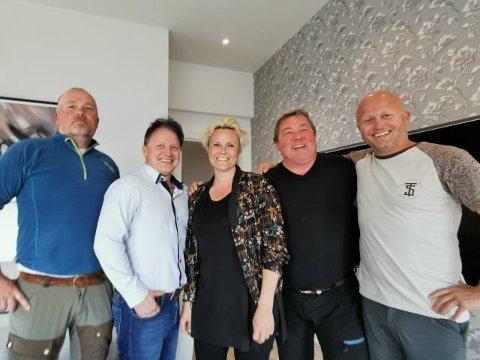 Ole Jonny Engan, Paul Gunnar Jansen, Camilla Olsen, Lars Jansen og Håvard Jansen har som mål å skape opplevelser og arbeidsplasser med sitt nye destilleri på Rognan.