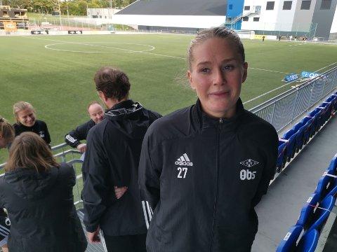Lisa Marie Karlseng Utland takker for rosen etter en solid stigning, men mener vi har enda mer i vente i fremtiden.
