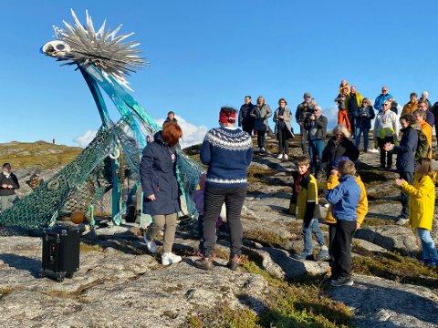 Engasjerer: Kunstpark Tranøy engasjerer kunstinteresserte og skaper debatt, senest med skulpturen Kraken som er satt opp i nærheten av Tranøy fyr.