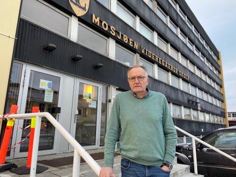 ALVORLIG: Rektor Kurt Henriksen ser veldig alvorlig på voldshendelsen ved skolen mandag.
