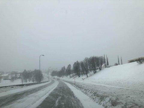 Det er mye snykov i lufta i Mo i Rana i dag.