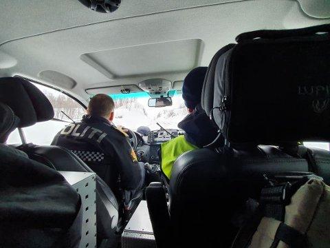 GELEIDET TIL SVERIGE: En bulgarer prøvde å komme seg over grensen i går. Han fikk politiskyss tilbake til Sverige. Illustrasjonsfoto