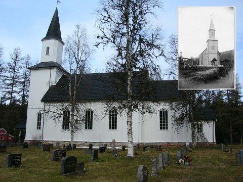 Nevernes kirke skal males om slik at den får tilbake utseende fra sent 1800-tall (innfelt bilde).