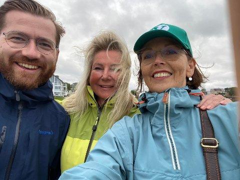Kirsten Marie Holmen (i midten) har hatt møte med blant andre klima- og miljøminister Sveinung Rotevatn og tidligere samferdselsminister Torild Skogsholm om sine planer for Saltstraumen.