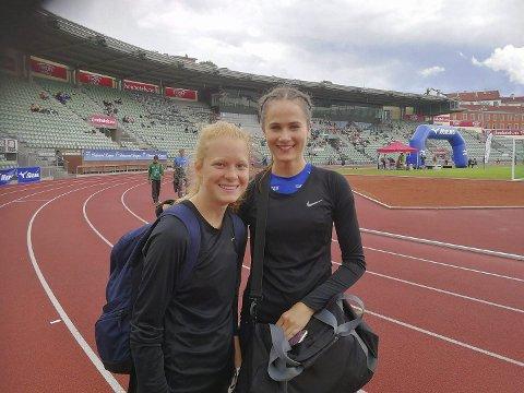 Høydepunkt: Tyrvinglekene er et høydepunkt i sesongen for de lokale friidrettsutøvere. Maren Bakke Amundsen og Sigrid Amlie Kongssund er to av i alt ti deltakere fra Moelven IL som deltar denne helga.