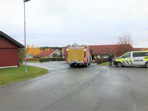 RYKKET UT: Nødetatene rykket fredag ettermiddag ut til et branntilløp i Brumunddal.