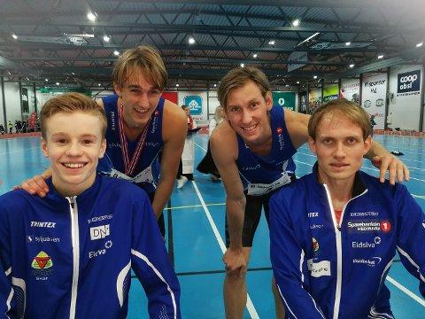 Håvard Bentdal Ingvaldsen, Jon Sime Hilstad Mangset, Mauritz Kåshagen og Carl Emil Kåshagen fikk med seg bronse fra helgas 4x200 meter stafett i NM.