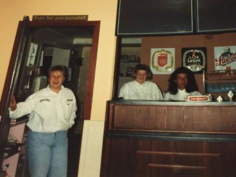 Annette Eng, Jane Simensen og Berit Evensen i 1990. Foto: Marit Dybsand.