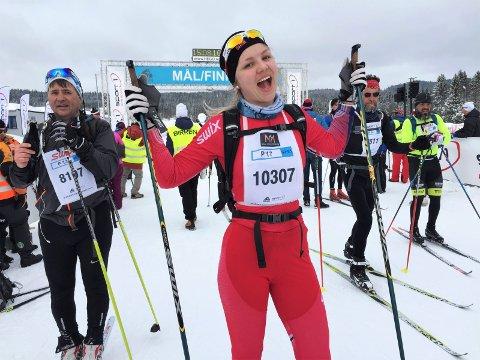 Aldri gått lenger: Camilla Jevanord har aldri gått så langt på ski som hun gjorde lørdag.