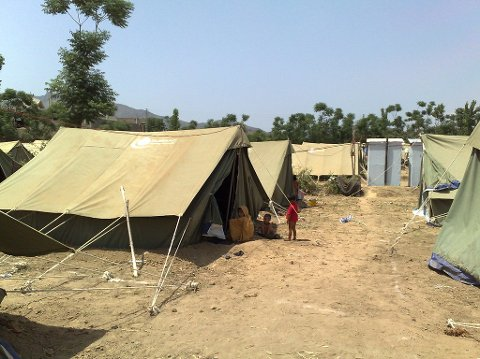 En flyktningleir i Pakistan