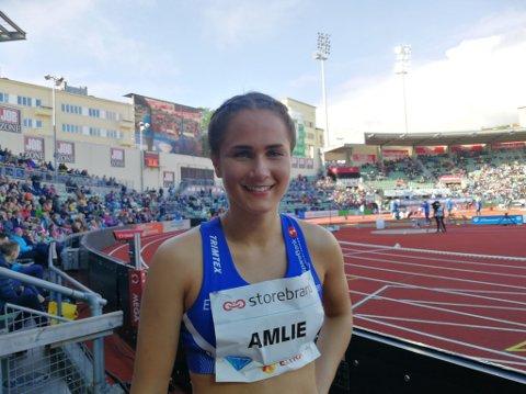 Bislett-jubel: Sigrid Kongssund Amlie løp som første dame inn under 57 sekunder på 400 meter.