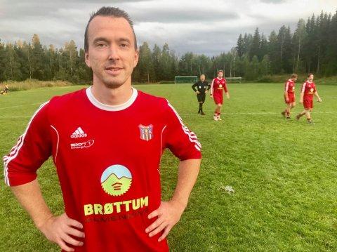 Kjempestart: Christoffer Nygård har spilt på Brøttum for mange år siden. Torsdag gjorde han comeback med to mål.