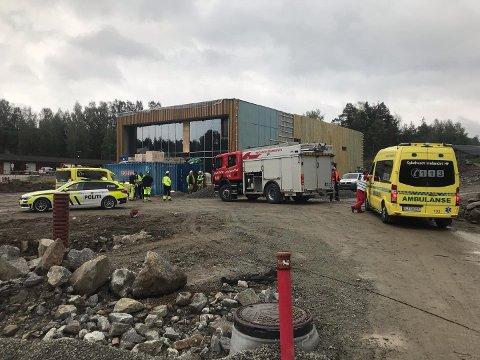 BRANNTILLØP: Det var i det nye renseanlegget ved gjenvinningstasjonen i Moelv det begynte å brenne onsdag.