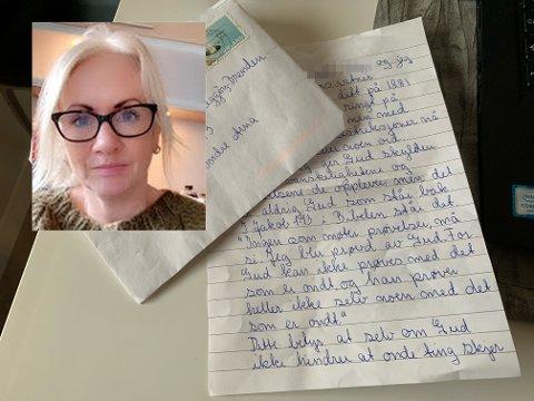 Rita Kristine Heggøy-Brenden var lite fornøyd med å få brev fra Jehovas vitner i posten.