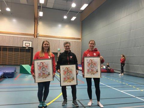 Bygdeprisen 2020: Malin Simensen Kjeve, Vigdis Solli Simensen og Silje Simensen Plassen fikk tildelt Bygdeprisen for Nes og Helgøya 2020 for deres engasjement for turnmiljøet på Nes.