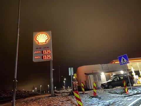 Spesielt: Det er oppsiktsvekkende når prisen for bensin og diesel er på samme niåv.