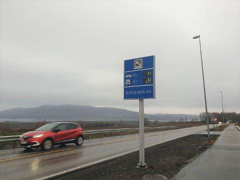 BERGSHØGDA: Bommen på Bergshøgda.