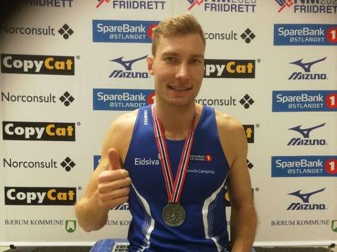 NY MEDALJE: Jørgen Kåshagen hadde et nesten sjokkerende comeback i fjor og i helgas innendørs-NM viste han at formen fortsatt er god da han tok sølv på 400-meter med tida 48.65