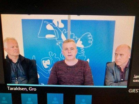 PRESSEKONFERANSE PÅ SKYPE: Fylkesmannen i Innlandet gjennomførte pressekonferansen på Skype for å unngå koronasmitten.
