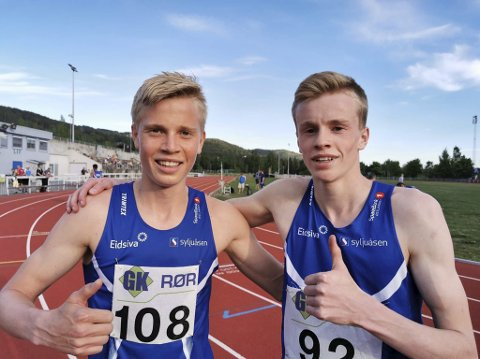 Raske: Andreas Grimerud (t.v) og Håvard Bentdal Ingvaldsen løp under 50 sekunder på 400 meter.