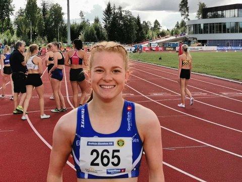 Sølv: Maren Bakke Amundsen etter finalen på 100 meter.