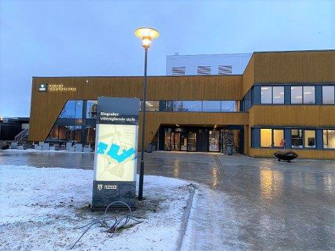 I VENTEKARANTENE: 30 elever ved Ringsaker videregående skole i Brumunddal er satt i ventekarantene.