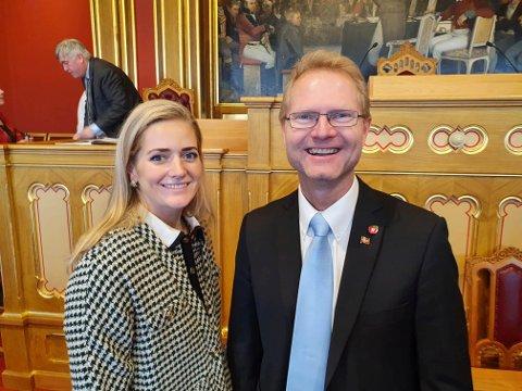 I JUSTISKOMITEEN: Stortingsrepresentant Tor Andre Johnsen (Frp), her sammen med justisminister Emilie Enger Mehl (Sp), skal sitte i justiskomiteen denne stortingsperioden.