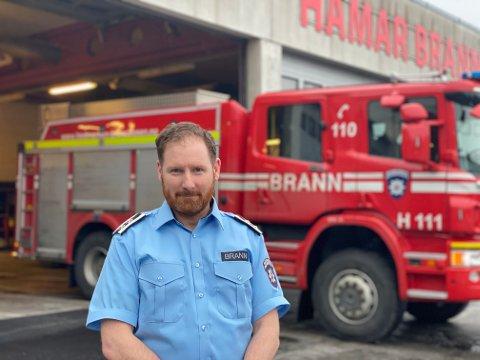NY BRANNSJEF: James Brian Mercer fra Moelv er Ringsakers nye brannsjef.