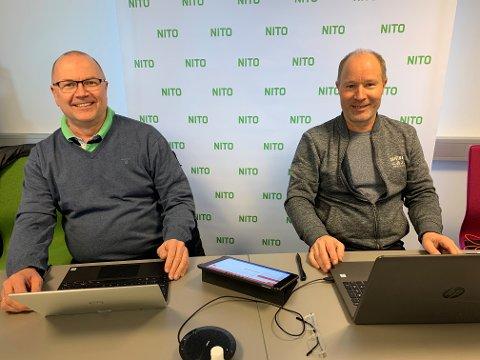 NITO Hedmark: Til venstre William Nilssen, ny avdelingsleder NITO Hedmark. Til høyre Harald Rygh, avtroppende avdelingsleder NITO Hedmark.