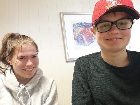 Ungdomsrådet: Janne Sofie Boine Bratberg og Hans Jørgen Petrud Bakke er begge med i Ungdomsrådet.