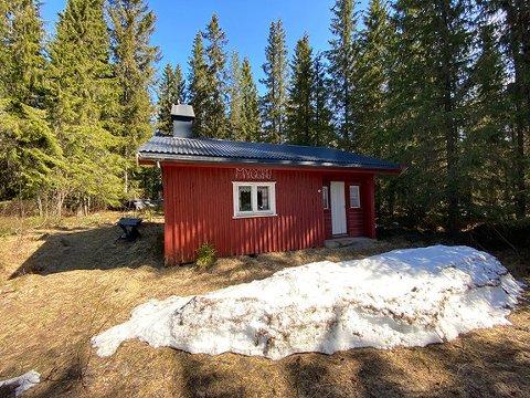 SKULLE SELGES: Det er salget av denne hytta i Sørmessenvegen 870 i Mesnali som er bakgrunnen for konflikten mellom selger og Aktiv Eiendomsmegling Innlandet.