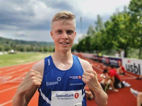 Rask: Andreas Grimerud Moelven friidrett.