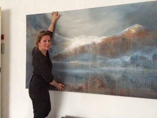 Karianne Gruer Torp maler mange motiv hentet fra fjellheimen.