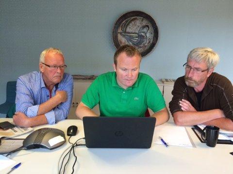 Tore Ellingsen, Hans-Petter Aasen og Harald Antonsen.
