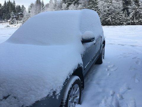 Så mye snø har det kommet!