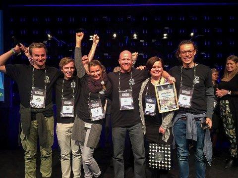 Gruppa fra Hønefoss vant Hack4Norden med appen Hidden.