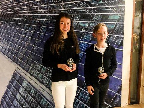 Årets utøvere: På Ringerike friidrettsklubbs årsavslutning ble Hannah Bentzen og Valentin Jenssen kåret til årets utøvere 2016.