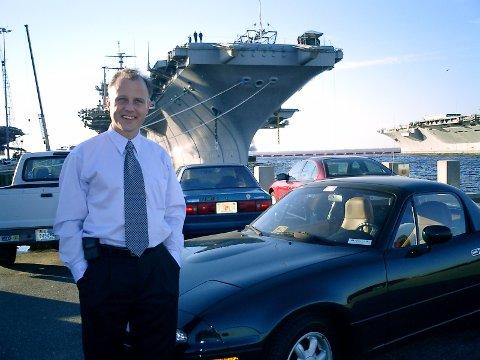 Natomann: Norfolk i Virginia var det siste arbeidsstedet til Roy Thorvaldsen. Nå er han pensjonist.Foto: Privat