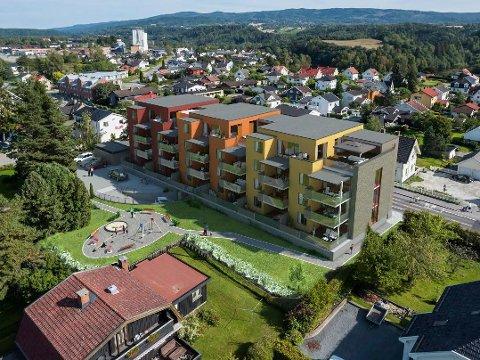 Nytt boligprosjekt i Hønengaten 40-44 med til sammen 21 nye leiligheter.