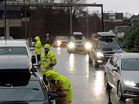 Lørdag stoppet Statens vegvesen 2462 kjøretøy ved Lagunen. Foto: Statens vegvesen