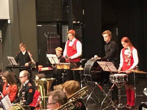 Trommegruppa i hovedkorpset.