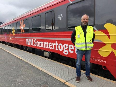 Jan Helge Østlund har tatt plass på NRK Sommertoget med prosjektlederansvar for NSB.