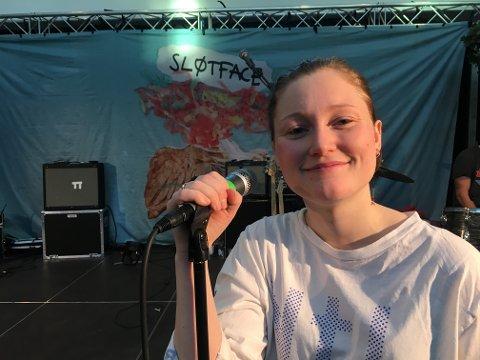 SPELLEMANNPRISEN: Haley Shea (24) er vokalist i bandet Sløtface som vant Spellemannsprisen 2018 i kategorien rock.