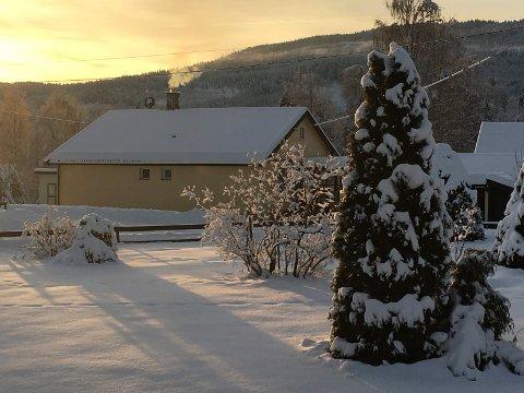 KALDT: Det var 22 kuldegrader på Sokna julaftens morgen.