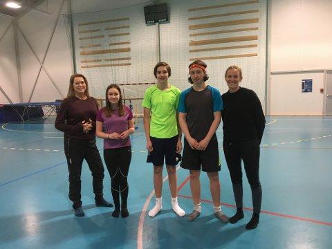Heidi, Mari, Sander, Marcus og Helle er med på Ung-Sterk-Aktiv.