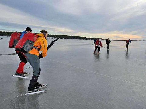 Turskøyting er et flott alternativ hvis det skorter på snøen der du bor. Foto: Oddvin Lund, Norsk Friluftsliv/ANB