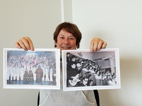 Vigdis Merete Rønning tilbrakte mye av ungdomstiden som Ten Sing-sanger. De gamle bildene er utlånt av Anne Grete Einarsen Skjerve.