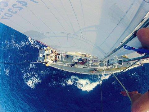 Ekspedisjon: Seilasen, som arrangeres gjennom Exxpedition team, går over tre uker gjennom the North PacificGyre, et av de tetteste områdene med oppsamlet plast, det som på norsk kalles «den store søppelstrømmen i Stillehavet».