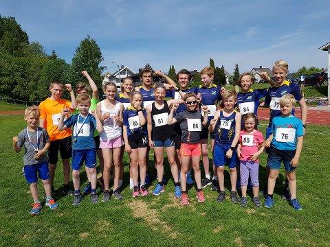 PRESTERTE: Utøverne fra Ringerike friidrettsklubb presterte i Eiker Kvikk-lekene.