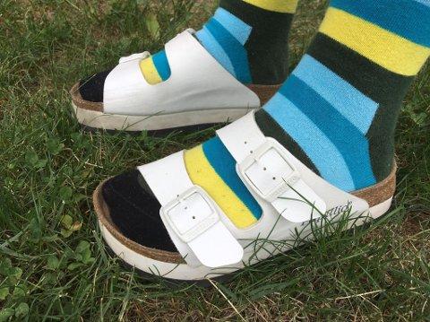 Er det heit eller teit med sokker i sandalene? (Illustrasjonsfoto)